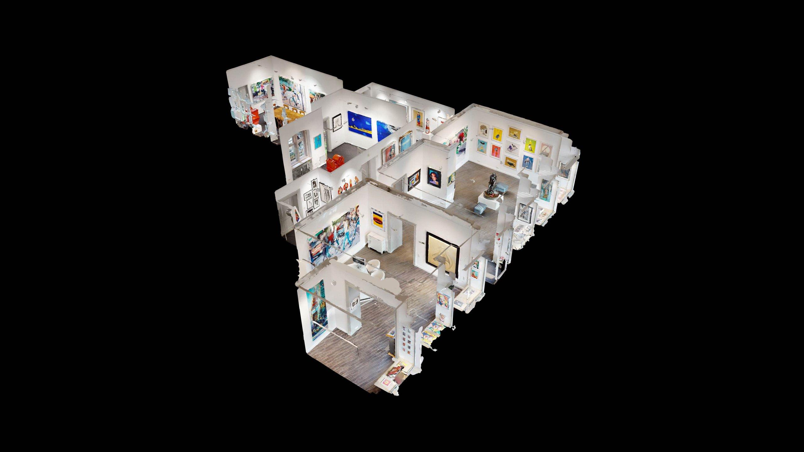 Dollhouse-Modell für die Galerie Baumgartl in München