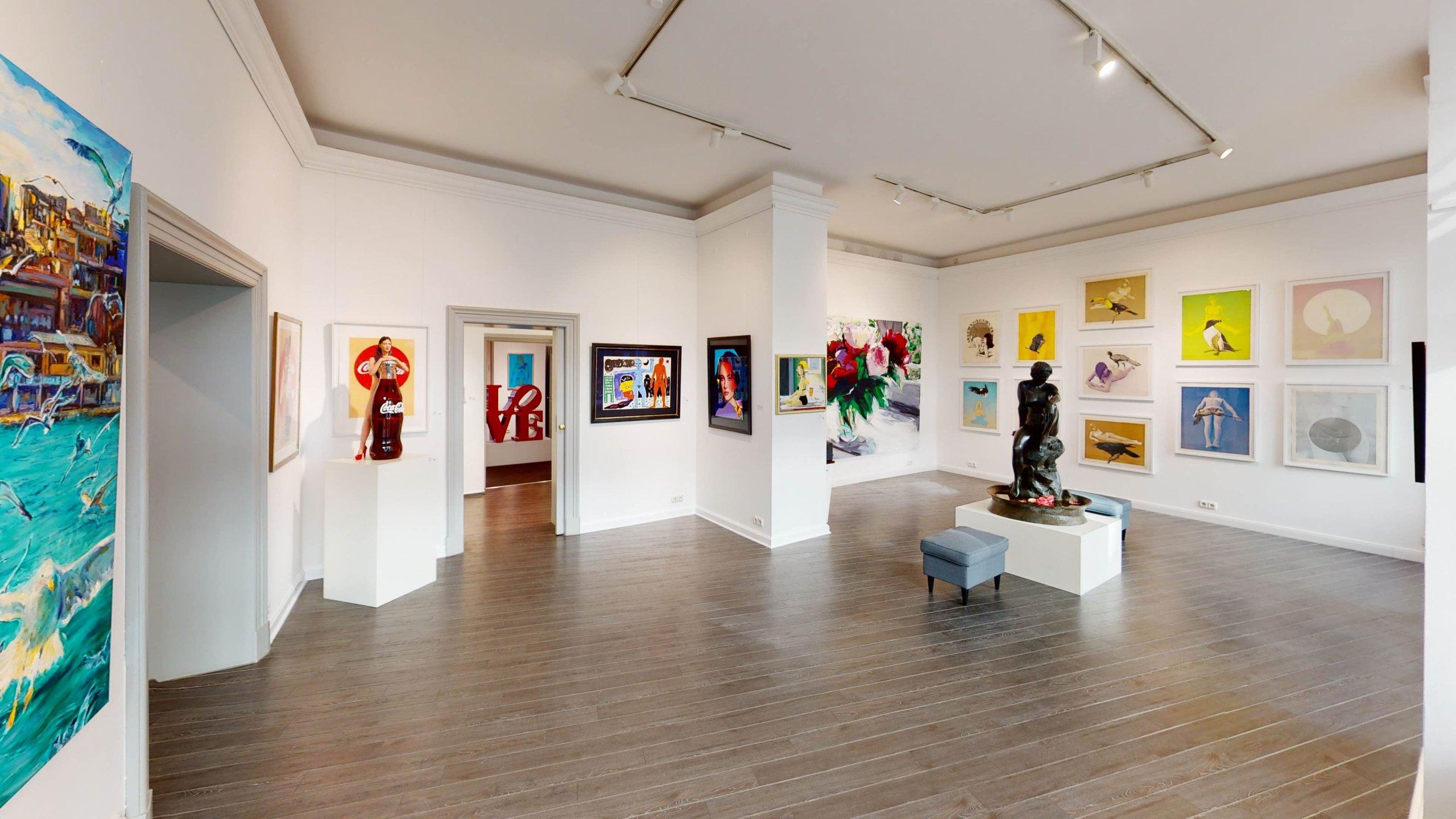 Virtueller Rundgang für die Galerie Baumgartl in München